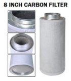 Phresh Filter 701015 750 Cubic Feet Per Minute Carbon Air Filter, 8 by 24-Inch