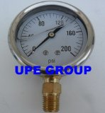 NEW STAINLESS STEEL LIQUID FILLED PRESSURE GAUGE WOG WATER OIL GAS 0 to 200 PSI LOWER MOUNT 0-200 PSI 1/4