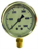 Oregon 37-230 1/4-Inch Male Connector 1000 Major and 100 Minor Pressure Washer Gauge 2.5-Inch Diameter 10,000 Max psi